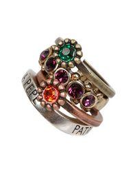 Patrizia Pepe   Metallic Junk Jewelry Ring   Lyst