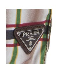 Prada | Dark Brown Plaid Print Nylon Reversible Shopping Tote for Men | Lyst