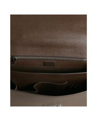 Prada | Brown Coffee Saffiano Calfskin Leather Cartella Briefcase for Men | Lyst