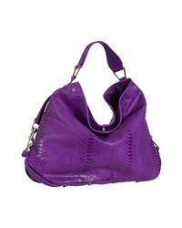 Rebecca Minkoff - Purple Alligator Embossed Leather Nikki Hobo - Lyst