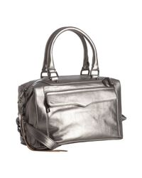 Rebecca Minkoff | Metallic Steel Leather Mab Mini Satchel | Lyst