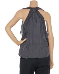 Rebecca Taylor | Blue Beaded Habotai Silk Top | Lyst