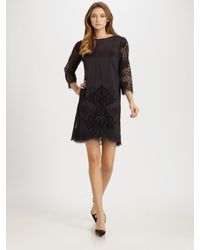 Stella McCartney | Black Eyelet Dress | Lyst
