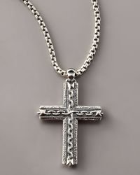 Stephen Webster | Metallic Oxidized Cross Necklace for Men | Lyst