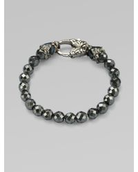 Stephen Webster | Metallic Hematite Beaded Sterling Silver Bracelet | Lyst