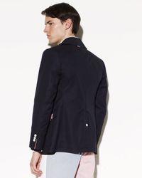 Thom Browne - Blue Cotton Canvas Sailors Coat for Men - Lyst