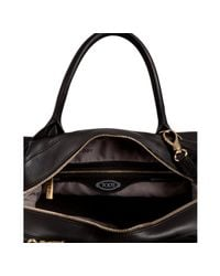 Tod's - Black Leather Bauletto D-styling Tote - Lyst