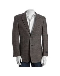 Tommy Hilfiger | Brown Tan Plaid Tweed Wool Two-button Blazer for Men | Lyst