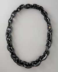 Tory Burch | Chunky Resin-link Necklace, Black | Lyst