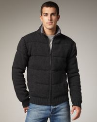 UGG - Gray Wool/cashmere Puffer Jacket for Men - Lyst