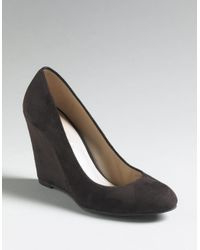 Via Spiga | Brown Fiona Kid Suede Dress Wedge Pumps | Lyst