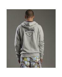 Vilebrequin - Gray Light Grey Cotton Soleil Hooded Zip Front Logo Sweatshirt for Men - Lyst