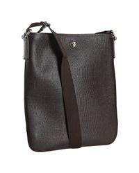 Saint Laurent | Brown Chocolate Saffiano Leather Shoulder Bag for Men | Lyst