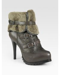 Ash | Brown Enigma Faux Rabbit Fur-lined Ankle Boots | Lyst