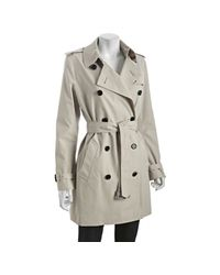 Burberry - Gray Prorsum Trench Cotton Blend Harbourne Trench Coat - Lyst
