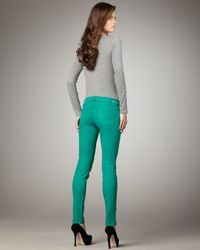 Current/Elliott - Blue Skinny Ankle Pants, Atlantic - Lyst