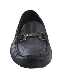 Dolce & Gabbana | Black Distressed Leather Horsebit Loafers for Men | Lyst