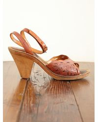 Free People - Brown Vintage Leather Heels - Lyst
