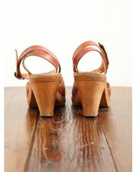 Free People | Brown Vintage Leather Heels | Lyst