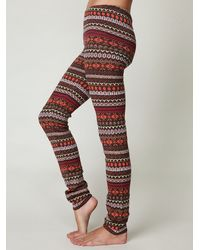 Free People | Multicolor Poconos Sweater Legging | Lyst