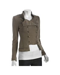 Free People | Natural We The Free Olive Cotton Stretch Majorette Double Breasted Jacket | Lyst