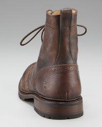 Frye - Brown James Lug Wing-tip Boot for Men - Lyst