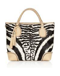 Gucci - Multicolor Marrakech Zebra-print Calf Hair Tote - Lyst