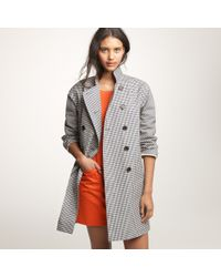 J.Crew | Gray Mackintosh® Rousay Trench Coat in Gingham | Lyst