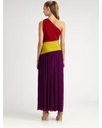 Jean Paul Gaultier | Multicolor Long Colorblock Dress | Lyst
