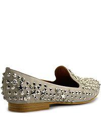 Jeffrey Campbell - Gray Elegant - Grey Leather Studded Loafer - Lyst