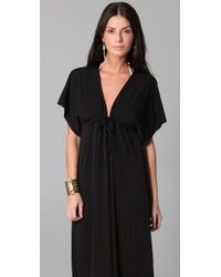 Josa Tulum - Black Rustic Long Cover Up Dress - Lyst