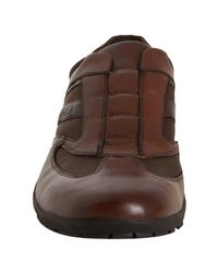 Kenneth Cole - Brown Leather Euro Café Slip-on Sneakers for Men - Lyst