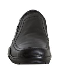 Kenneth Cole Reaction | Black Leather Alca-has Slip-on Loafers for Men | Lyst