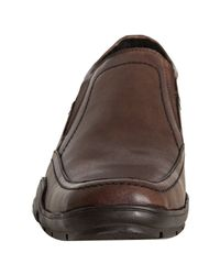 Kenneth Cole Reaction - Brown Leather Alca-has Slip-on Loafers for Men - Lyst