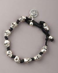 King Baby Studio - Metallic Knotted Skull Bracelet for Men - Lyst