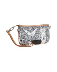 L.A.M.B. - Blue Printed Faux Leather Convertible Clutch - Lyst