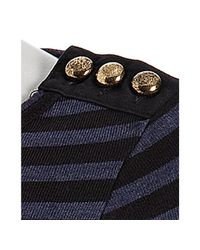 Marc By Marc Jacobs - Black Starboard Stripe Button Detail Sweater - Lyst