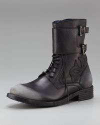 Mark Nason | Black Revellers Buckled Boot for Men | Lyst