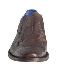 Mark Nason - Brown Rock Lives Caramel Leather So Bar Patchwork Slip-on Loafers for Men - Lyst