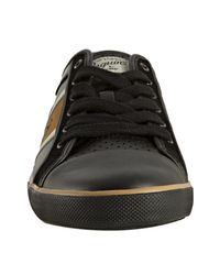 Original Penguin - Black and Spice Leather Half Court Sneakers for Men - Lyst