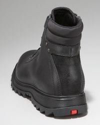 Prada | Black Leather Hiker Boots for Men | Lyst