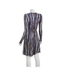Rachel Pally - Gray Neutral Broken Lines Jersey Wrap Dress - Lyst