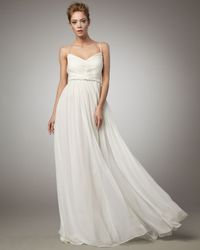 Robert Rodriguez | White Phoebe Chiffon Gown, Ivory | Lyst
