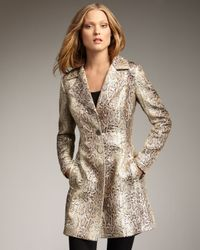 Royal Underground - Natural Snake-jacquard Coat - Lyst