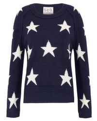 Sea | Blue Navy Star Knitted Jumper | Lyst