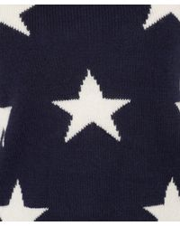Sea - Blue Navy Star Knitted Jumper - Lyst