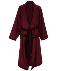 Stine Goya | Red Landscape Beaujolais Cashmere Coat | Lyst