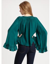 The Addison Story | Green Bell Sleeve Top | Lyst