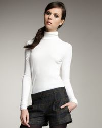 Theory | White Long-sleeve Turtleneck | Lyst