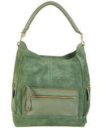 TOPSHOP - Green Oversize Suede Pocket Tote Bag - Lyst